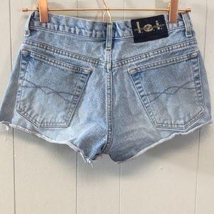 Vintage L.E.I. Jean Cutoff Shorts Size 3